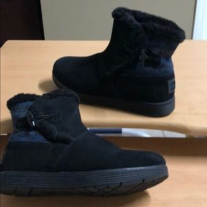 Skechers Black fur lined Ankle Boot Black 8.5